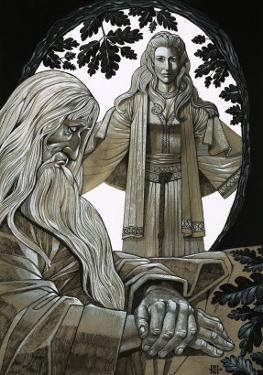 Merlin and Vivian, the Fairy Lady of the Lake by Richard Hook