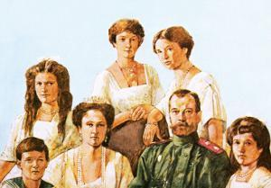 Tsar Nicholas Ii with This Family by Richard Hook