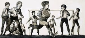 William Webb Ellis Picked Up the Ball and Ran with It, Inventing Rugby by Richard Hook