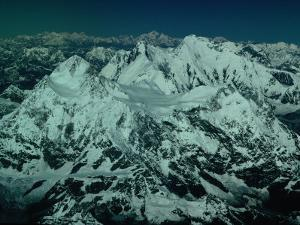 Aerial View of Himalayan Ranges from Flight Between Lhasa and Kathmandu, Tibet by Richard I'Anson