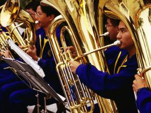 Band of Tuba Musicians, Macau, China by Richard I'Anson