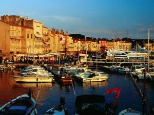 Boats and Buildings at Port, St. Tropez, France by Richard I'Anson
