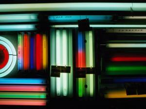 Coloured Fluorescent Tubes for Sale at Akihabara, Honshu, Tokyo, Japan by Richard I'Anson