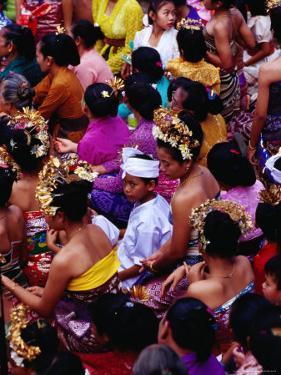 Crowd at Usaba Sambah Festival, Tenganan, Bali, Indonesia by Richard I'Anson