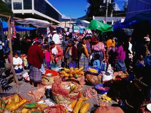 Crowds Shopping on Market Day, Totonicapan, Guatemala by Richard I'Anson