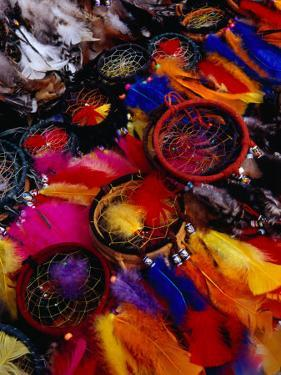 Dream Catchers for Sale at the Poncho Plaza Market, Otavalo, Ecuador by Richard I'Anson