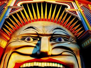 Face of Luna Park at Sunset St. Kilda, Melbourne, Australia by Richard I'Anson