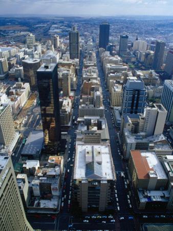 Johannesburg City Centre from the Carlton Centre, Johannesburg, Gauteng, South Africa by Richard I'Anson