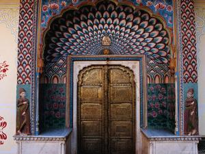 Lotus Gate in Pitam Niwas Chowk in City Palace by Richard I'Anson