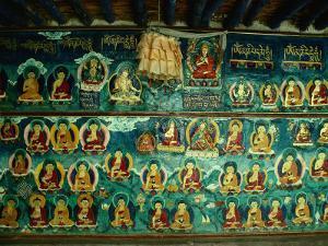 Mural at Tashilhunpo Monastery Depicting Various Teachers, Buddhas and Deities, Shigatse, Tibet by Richard I'Anson