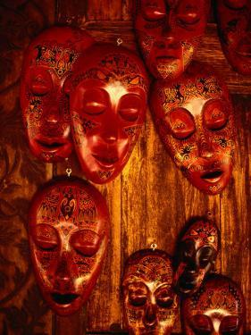 Painted Masks for Sale in the Village of Karang Bayan, Lombok, West Nusa Tenggara, Indonesia by Richard I'Anson
