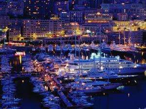 Port of Monaco at Dusk, Monaco Ville, Monaco by Richard I'Anson