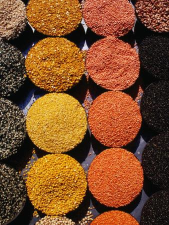Pulses and Grains at Azadpur Market, Delhi, India by Richard I'Anson