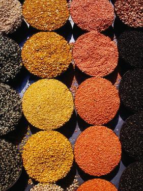 Pulses and Grains at Azadpur Market, Delhi, India by Richard I'Anson