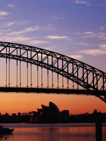 Sunrise Over Sydney Harbour Bridge and Sydney Opera House, Sydney, Australia by Richard I'Anson