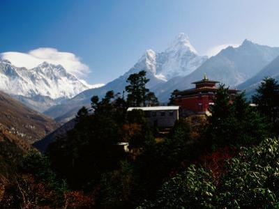 Tengboche Monastery in Front of Mt Everest, Lhotse, Nuptse and Ama Dablam by Richard I'Anson