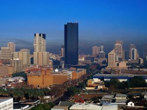 The City Skyline from Arcadia, Pretoria, Gauteng, South Africa by Richard I'Anson