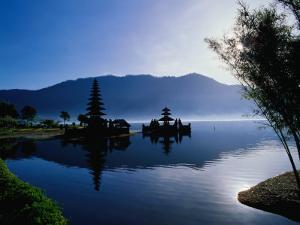 Ulun Danu Bratan Temple, Reflected in Lake Bratan, Early Morning, Indonesia by Richard I'Anson