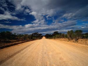 Unsealed Outback Road, Mungo National Park, New South Wales, Australia by Richard I'Anson