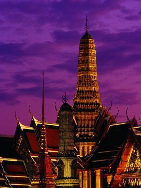 Wat Phra Keo at Dusk, Bangkok, Thailand by Richard I'Anson