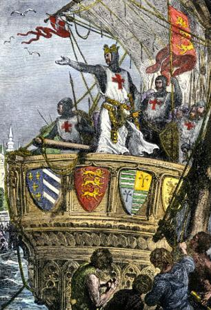 Richard I's Farewell to the Holy Land after the Third Crusade, 1192