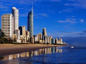 Hi-Rise Apartment Buildings and Surfers Paradise Beach by Richard l'Anson