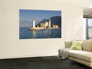 Our-Lady-Of-The-Rock and St George's Islands in Bay of Kotor by Richard l'Anson