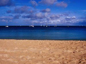 Reduit Beach and Yachts on Rodney Bay by Richard l'Anson