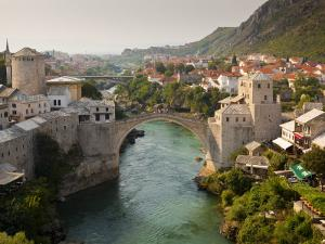 Stari Most or Old Bridge over Neretva River by Richard l'Anson