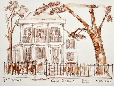 An elegant, old home in the Garden District of New Orleans, Louisiana, USA. by Richard Lawrence