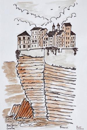 Cliffside city of Bonifacio, Corsica, France by Richard Lawrence