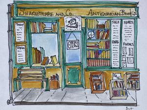 Famous Shakespeare and Co. bookstore along the Seine, Paris, France by Richard Lawrence