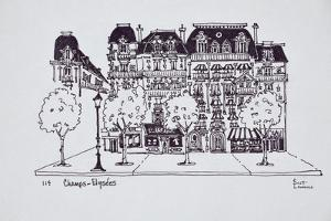 Haussmann architecture along Champs Elysees, Paris, France by Richard Lawrence