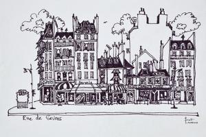 Haussmann architecture along Rue de Sevres, Paris, France by Richard Lawrence