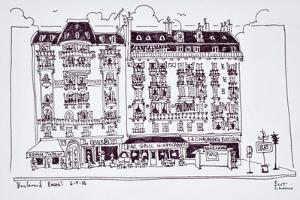 Haussmann style shops along Boulevard Raspail, Paris, France by Richard Lawrence