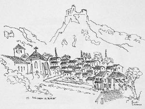 Medieval village of Saint-Guilhem-Le-Desert, France. by Richard Lawrence