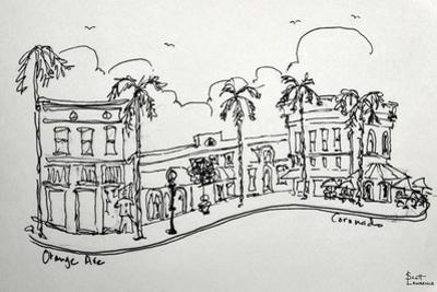 Orange Ave. in Coronado California. A wonderful shopping street, just a block from the beach. by Richard Lawrence