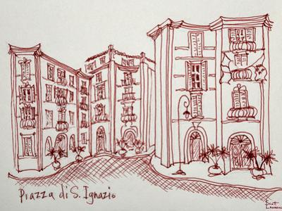 Piazza di San Ignazio is a beautiful, quiet, pedestrian only plaza in Rome, Italy. This is a reside by Richard Lawrence