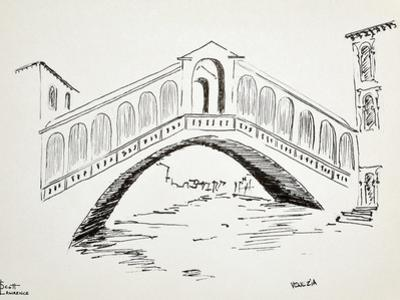 Ponte Di Rialto in Venice, Italy, is probably the most famous bridge in Venice. by Richard Lawrence