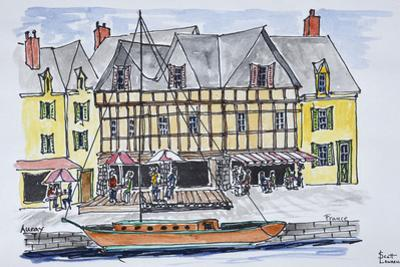 Quay Franklin in the old port of Saint-Goustan, Auray, Brittany, France by Richard Lawrence
