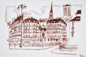 The view towards La Cite and Notre Dame de Paris, Paris, France by Richard Lawrence