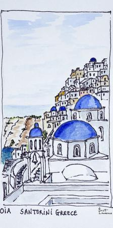 Traditional architecture in the town of Oia, island of Santorini, Greece by Richard Lawrence