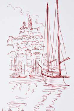 View of Notre-Dame de la Garde from the Old Port, Marseille, France by Richard Lawrence