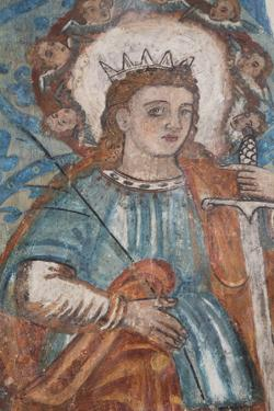 A 16th Century Fresco, Church of San Bernadino De Siena and Convent of Sisal, Founded in 1552 by Richard Maschmeyer