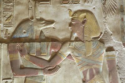Bas-Relief of the God Anubis on Left by Richard Maschmeyer