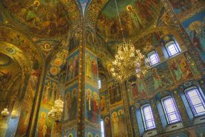 Ceiling and wall frescos, Church on Spilled Blood (Resurrection Church of Our Saviour), UNESCO Worl by Richard Maschmeyer
