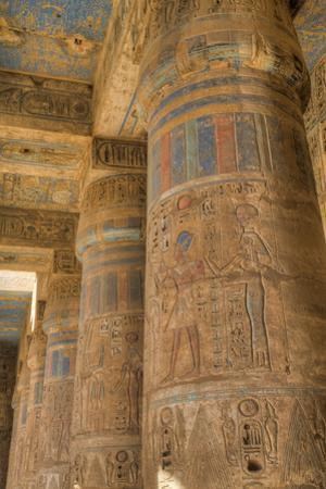 Columns in Second Court, Medinet Habu (Mortuary Temple of Ramses Iii), West Bank