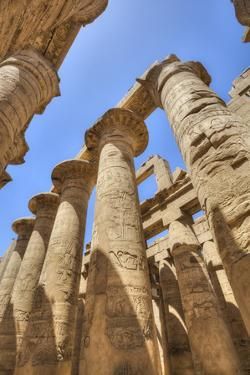 Columns in the Great Hypostyle Hall, Karnak Temple, Luxor, Thebes, Egypt, North Africa, Africa by Richard Maschmeyer