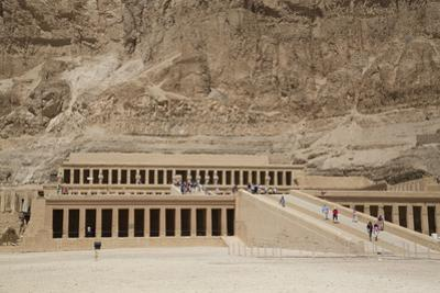 Deir-El-Bahri (Hatshepsut's Temple), West Bank Thebes, Egypt, North Africa, Africa by Richard Maschmeyer