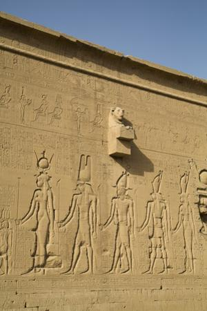 Exterior Reliefs, Temple of Hathor, Dendera, Egypt, North Africa, Africa by Richard Maschmeyer